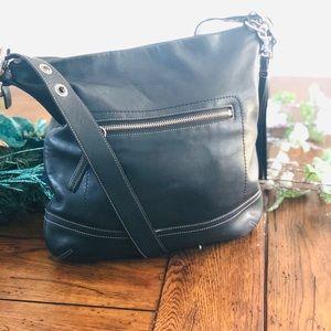 Coach Leather Hobo Crossbody Bag